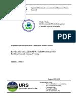Borrador del Informe de los resultados del analisis en Pavillion (Wyoming)