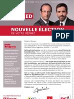 Tract - Nouvelle élection de votre député