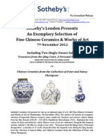 Sotheby's London Sales of Fine Chinese Ceramics and Works of Art - 7th November 2012