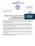 2012 Street Resurfacing Project Press Release