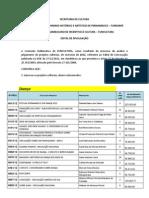 Resultado Funcultura 2011/2012