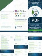 Programa de Actividades en el Primer Congreso del Parque Nacional Cumbres de Monterrey