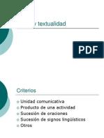 Texto y Textualdad