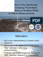 Examination of the SeaSonde Wave Processing Parameters and the Effects of Shallow Water on Wave Measurements