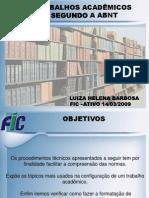 Apresentação Normas ABNT- Monografias - 26-09-2008 - FIC ATIVO