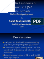 Thyroid Cancer Case Discussion by Dr Salah Mabrouk