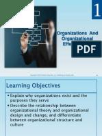 CH 1 - Organizations and Organizational Effectiveness