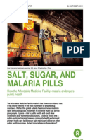 Salt, Sugar, and Malaria Pills: How the Affordable Medicine Facility–malaria endangers public health