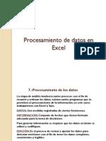 Procesamiento de Datos en Excel 2010