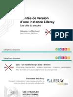 Liferay France Symposium 2012 - Montée de version d'une instance Liferay