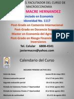 Presentacion Macro 2 1er Periodo 2011