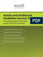 Autism and Intellectual Disabilities Services for Adults