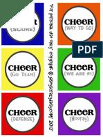 Team Spirit Printable {Sideline Cheer Sign and Treat Bag Tag