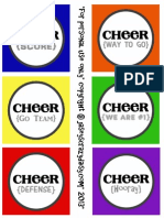 Team Spirit Printable {Sideline Cheer Sign and Treat Bag Tag
