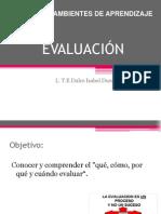 Evaluación y tipos