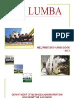 LUMBA Placement Brochure Batch 2011-2013