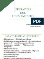 LITERATURA RENACIMIENTO
