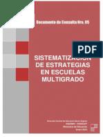 Sistematizar en Escuelas Multigrado
