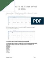 Como Se Realiza Un Balance Inicial en Excel