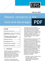 Obesity Concerns in the Food and Beverage Industry