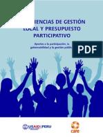 Experiencias de gestión local y presupuesto participativo