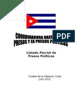 Listados Parcial de Presos Politicos (Documento Completo 2do Trimestre 2012)