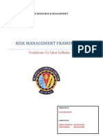 Risk Management Framework Vodafone vs Idea Celluar