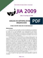 4-Análisis de Isótopos Estables y Arqueología
