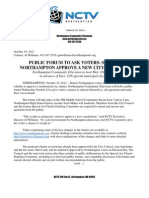 12-10-19 NCTV Charter Forum Press Release