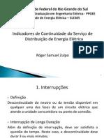 Seminário Indicadores de Continuidade do Serviço de Distribuição de Energia Elétrica