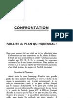 Esprit 7 - 7 - Faillite Du Plan Quinquennal ?