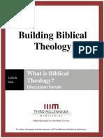 Building Biblical Theology - Lesson 1 - Forum Transcript
