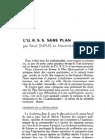 Esprit 7 - 8 - Dupuis, René & Marc, Alexandre - L'URSS sans plan