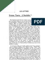 Esprit 7 - 13 - Déléage, André - Tristan Tzara, l'Antitête