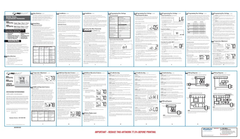 Proselect Psts11p52 And Psts21p52 Manual Guide