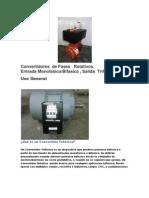 convertidores de fase rotativos