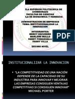 Institucionalizar La Innovacion