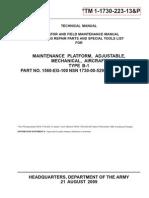1730-223-13p Maintenance Platform Aircraft Type B-1 Nsn 1730-00-529-6235