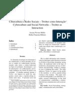 Cibercultura e Redes Sociais – Twitter como Interação