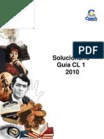Solucionario CL 1 2010