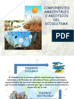 Componentes abioticos y medio ambientales
