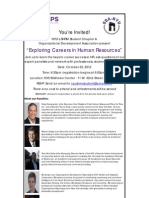 Exploring HR Careers Panel 10/23/12 (Updated)