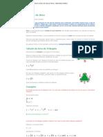 Geometria - Cálculo da Área de Figuras Planas