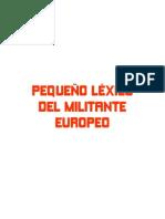 Pequeno Lexico Del Militante Europeo