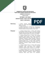 Perda Nomor 5 Tahun 2011 Tentang Retribusi Jasa Umum