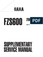 fzs600 2000 Supplement to service repair manual