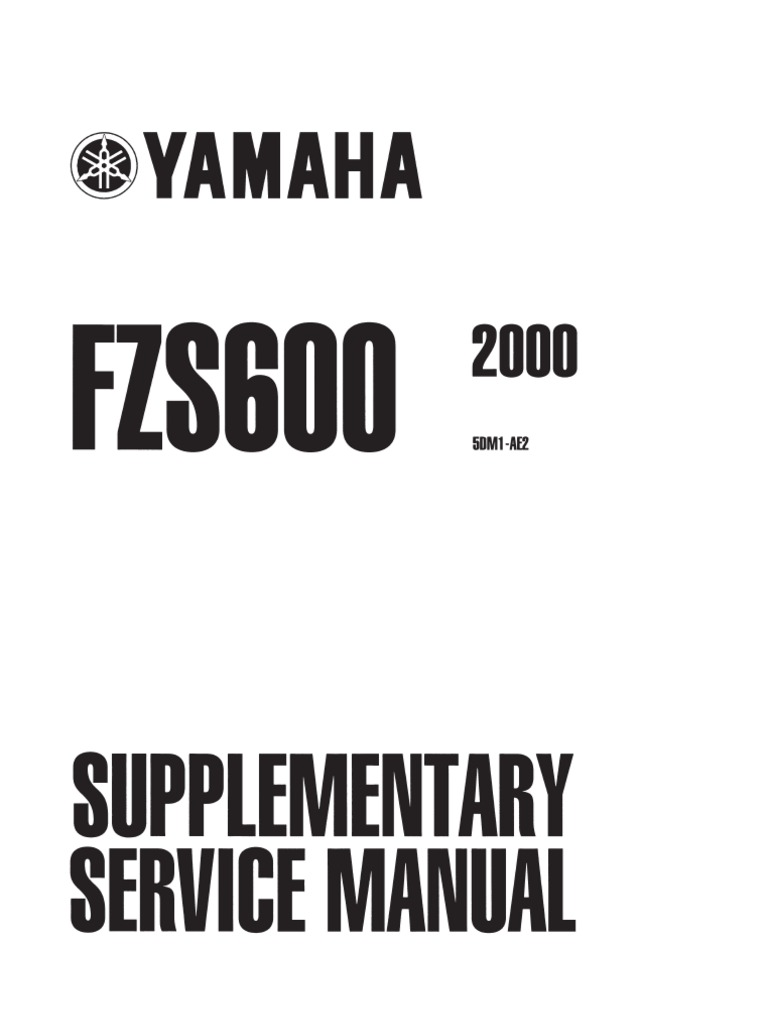 fzs600 2000 Supplement to service repair manual | Switch | Electrical  Connector