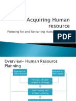 Acquiring Human Resource and Recruiting