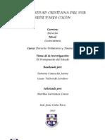 El presupuesto del Estado Costarricense