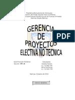 Trabajo de Electiva No Tecnica Organizacion Del Proyecto